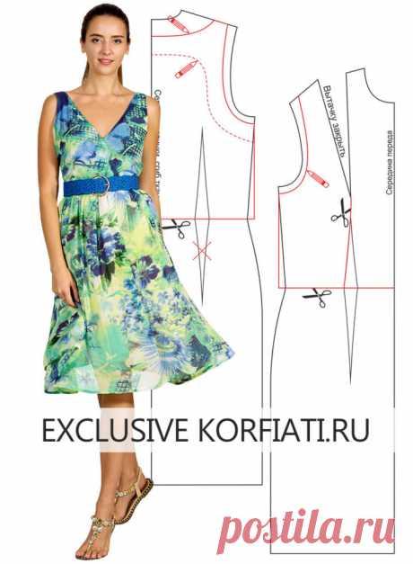 Выкройка платья без застежки от Анастасии Корфиати