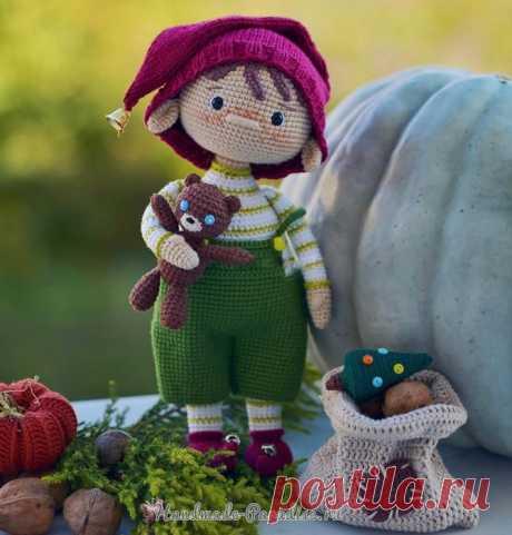 Рождественский мальчик-эльф - кукла крючком