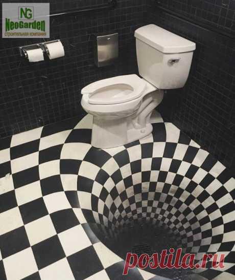 3D-эффекты в туалете: идеи дизайна — DIYIdeas