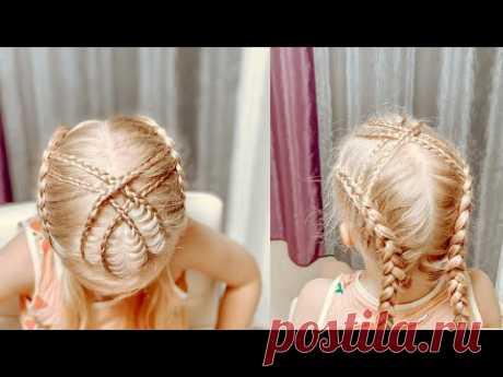 Две косы с переплётом Прически с косичками