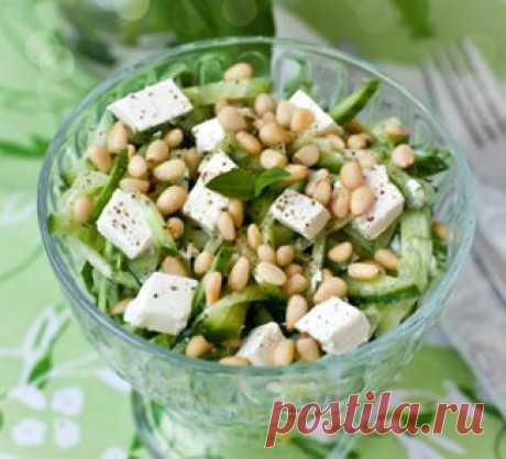 Огуречный салат с фетой, салат. Пошаговый рецепт с фото на Gastronom.ru