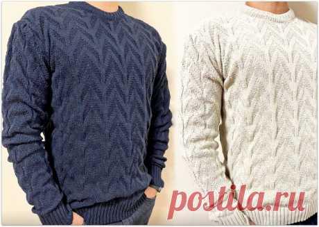 Вяжем подарок к 23 февраля: 5 мужских свитеров спицами | Paradosik_Handmade | Яндекс Дзен