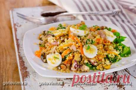 Рецепт Салат из киноа с морепродуктами