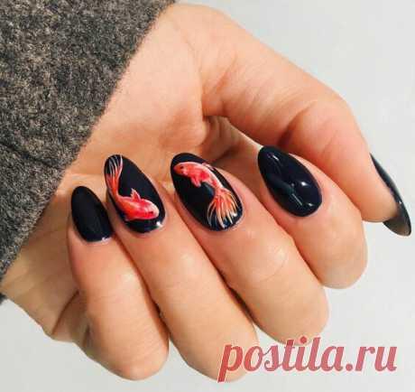 Лаковая живопись на ногтях https://secondstreet.ru/blog/makiyaj/lakovaja-zhivopis..  Маникюр для любителей миниатюры:)
