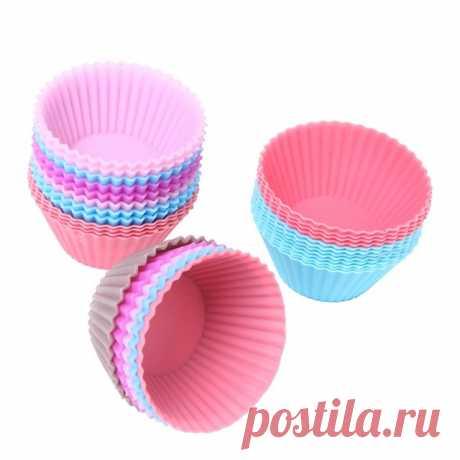 6 шт. силиконовые формы для выпечки кексов, Стоимость 79 рублей!