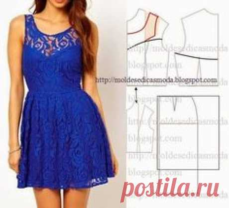 Moldes Moda por Medida: TRANSFORMAÇÃO DE VESTIDOS _69 | Patrun | Vestidos, Moda и Шитье