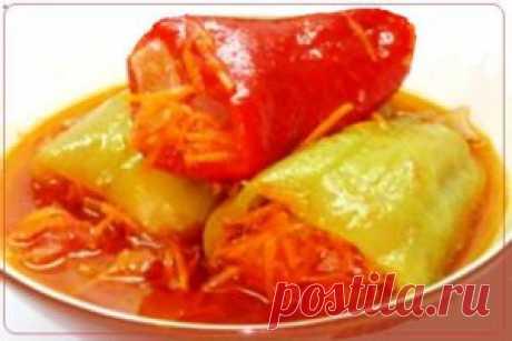 Болгарский перец, фаршированный овощами   Рецепты вкусно
