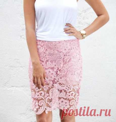 Шьем юбку карандаш из кружева — Отлично! Школа моды, декора и актуального рукоделия