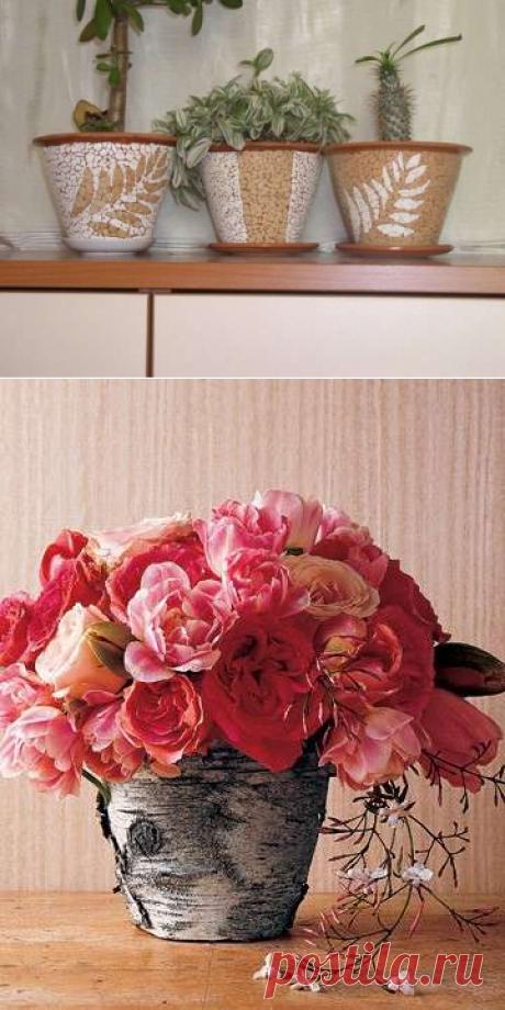 Каким должен быть декор цветочных горшков