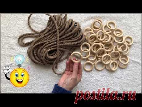 Удивительная идея: как интересно можно использовать кольца для карниза и верёвку