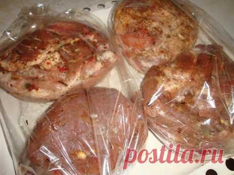 Буженина в пакете для бутербродов
