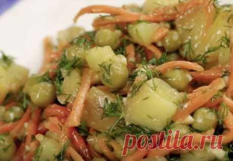 Пускаем картошку на салат: за 10 минут сделали ужин | Люблю Себя