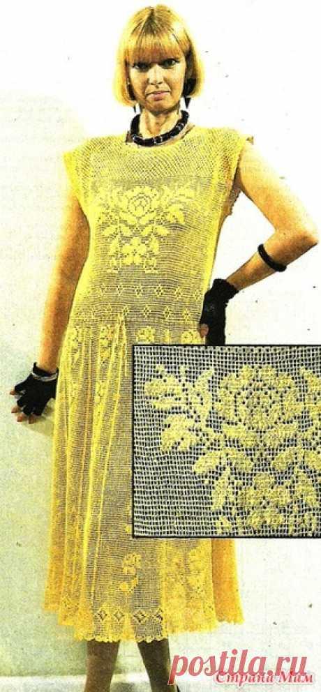 . Винтажное платье в филейной технике. - Все в ажуре... (вязание крючком) - Страна Мам