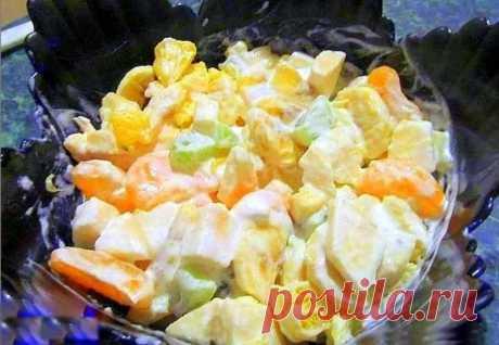 Фруктовый салат с мандаринами и мороженым рецепт с фото пошагово - 1000.menu