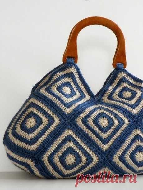 Летняя подборка стильного вязания из бабушкиного квадрата + схемы. Часть 1 - Сумки | TurtleKnitt | Яндекс Дзен