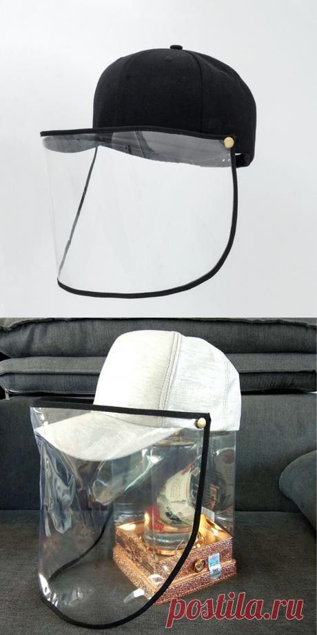 1pcs face mask cover baseball cap face anti-splash anti-fog protective protection cover shield brim hat at Banggood