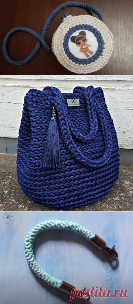 5 вариантов ручек для вязаной сумки - легко связать самому