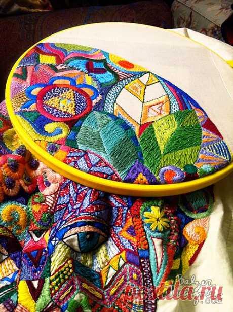 объемная вышивка