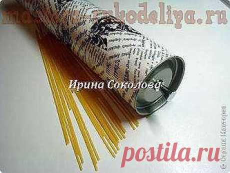 Мастера рукоделия - рукоделие для дома. Бесплатные мастер-классы, фото и видео уроки - Мастер-класс по декопатчу: Спагетница