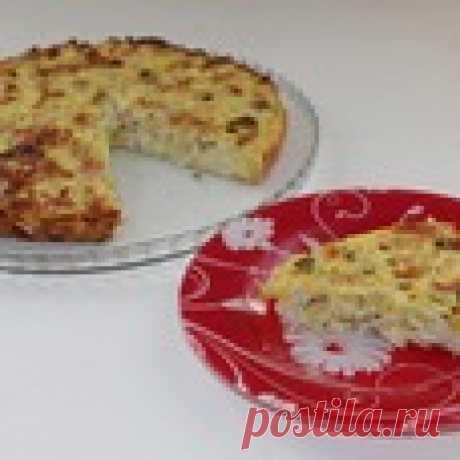 Заливной пирог с курицей и кабачком - кулинарный рецепт