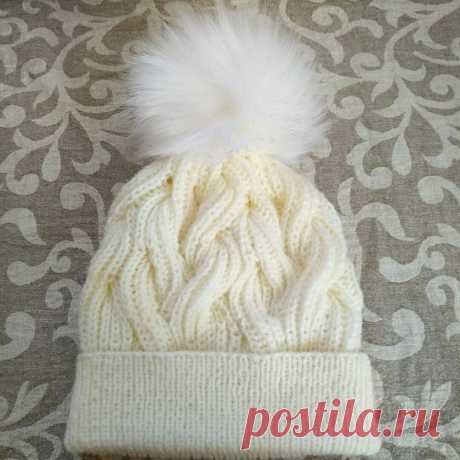 Готовимся к холодам. Мастер-класс по вязанию теплой шапки с двойным отворотом | Шебби-Шик | Яндекс Дзен