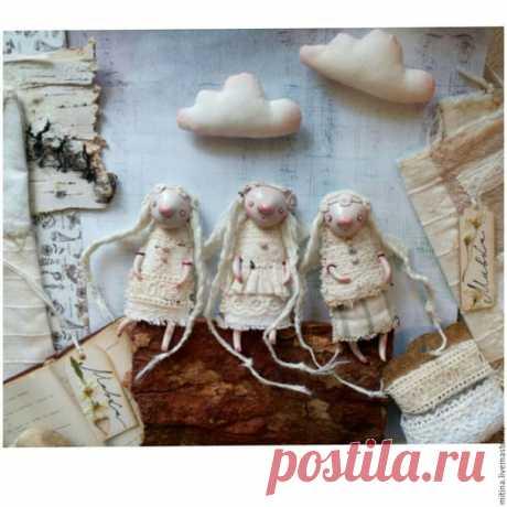 Купить Подвес с Мавкой - белый, бежевый, подвеска, интерьерная подвеска, авторская работа, авторская кукла