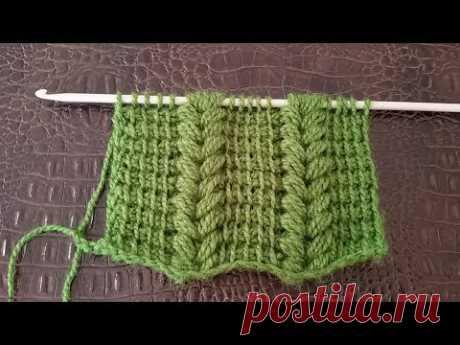 28 - EN ÇOK İZLENEN TUNUS İŞİ SAÇ ÖRGÜ MODELİ ( Tunisian crochet )  English subtitle