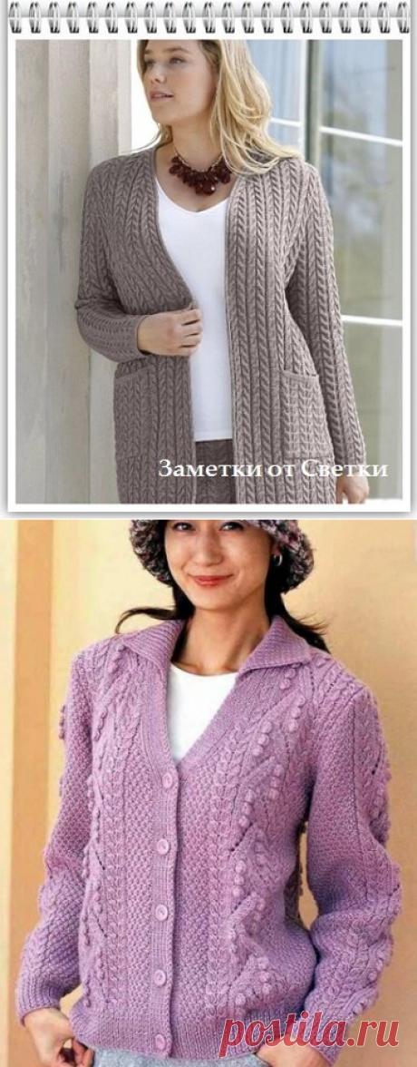 Заметки от Светки / Узоры спицами для женского кардигана - svjazat.ru