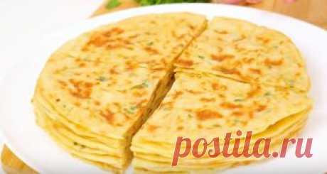 Хычины - лепешки на кефире с сыром и картошкой — Кулинарная книга - рецепты с фото