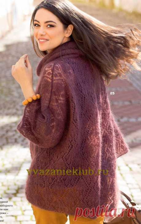 Мохеровый пуловер для женщин - Вязание спицами для женщин - Каталог файлов - Вязание для детей