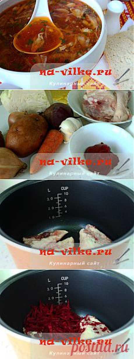 Борщ с курицей в мультиварке Редмонд RMC M-4502
