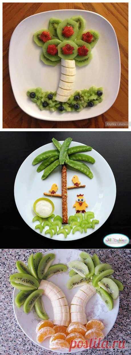 Karving hortalizas y las frutas
