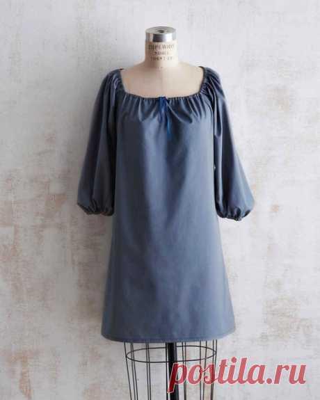 Платье свободного кроя. Размеры S, M, L #готовые_выкройки