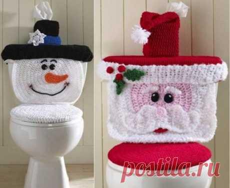 Крючком Узор Санта Туалет Крышка Места | В WHOot