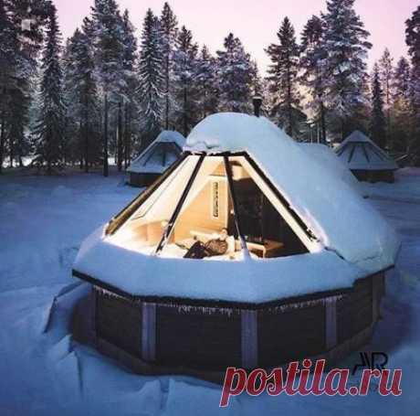 Запись создана пользователем Креатив, дизайн, творчество Идеальное место для тихих зимних вечеров