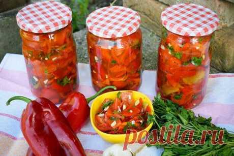 Салат из перца на зиму (рецепт, который мы повторяем из года в год) | Другая Кухня /Дневник фудблогера | Яндекс Дзен