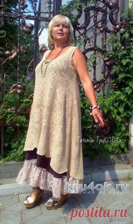 El vestido por el gancho en el estilo boho. El trabajo de Tatiana Kolesnichenko Tarchevsky