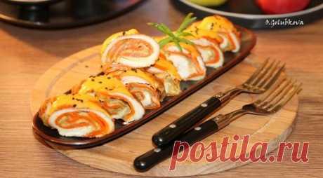 Куриный рулет с морковью и кабачком, пошаговый рецепт с фото