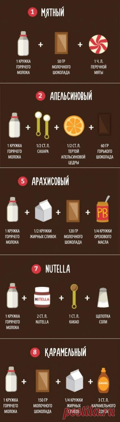 9 способов приготовить вкусный горячий шоколад