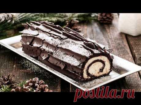 Chocolate Coconut Bûche de Noël (Yule Log)