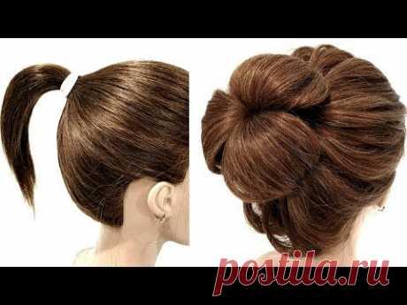 Прическа для Коротких волос. Просто сделать СЕБЕ! Hairstyle for Short Hair. Just Make Yourself!