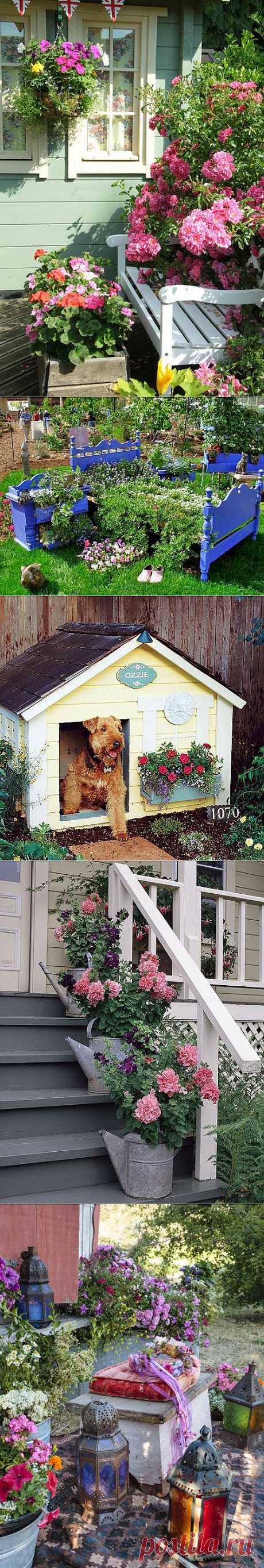 Идеи для сада - деревенский уголок (50фото).