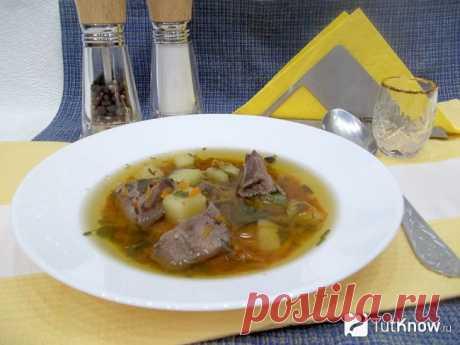 Рецепт: Суп на печеночном бульоне