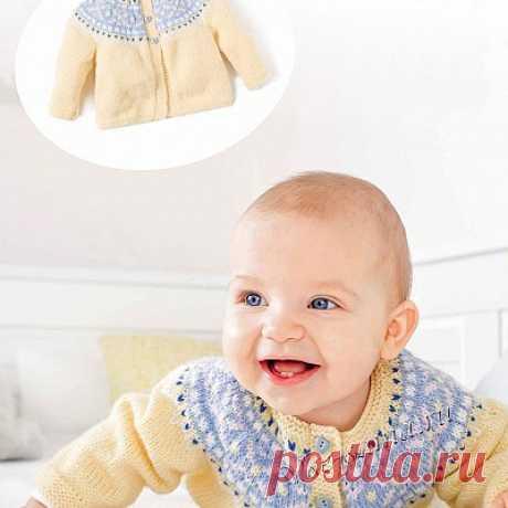 Жакет на 6 месяцев - Кофточки, жакеты для малышей спицами