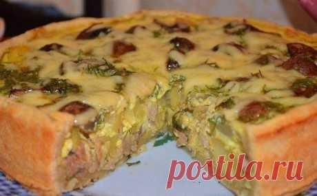 шеф-повар Одноклассники: Пирог с курицей и картошкой