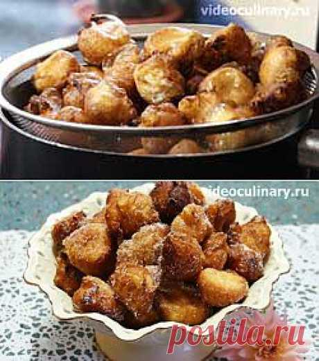 Donuts from custard paste there is Видеокулинария.рф - video recipes of the Grandmother Emma