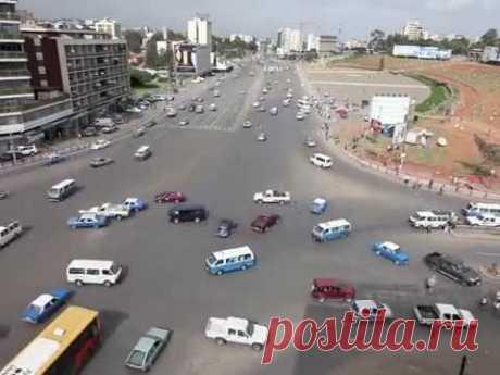 Да зачем нам светофоры… Вот так водят в г. Аддис-Абеба