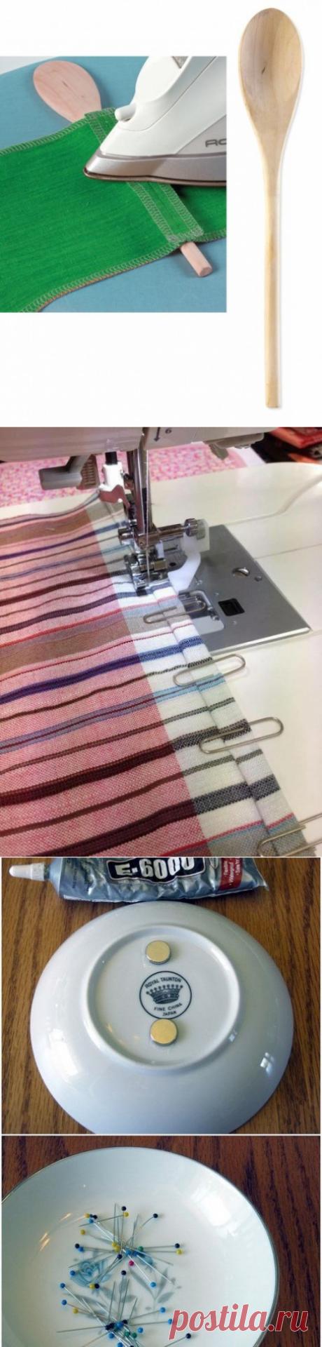 Швейные лайфхаки с подручными средствами: подборка идей