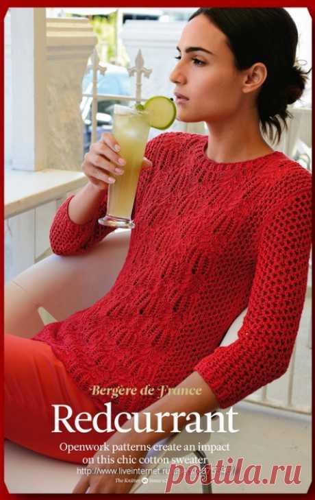 Вязание джемпера Redcurrant, журнал The Knitter 62