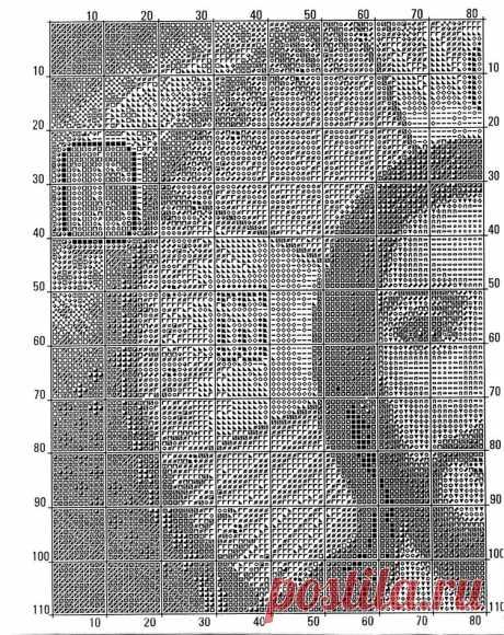 Ч2 Господь Вседержатель. Схема для вышивки крестиком бисером
